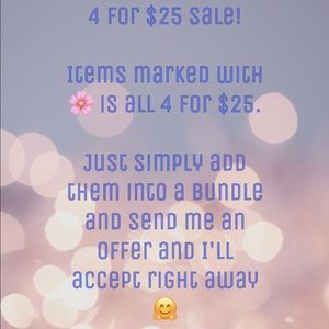 Tops - 4 for $25 Sale!